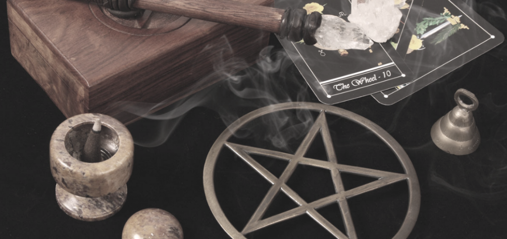 Wicca - Witchcraft Tools and Altar Photo