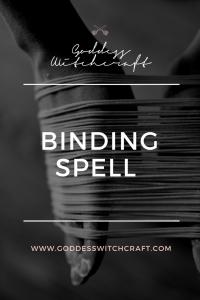 Binding Spell Pinterest Graphic