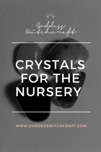 Crystals for the Nursery Pinterest Graphic