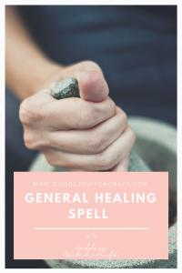 General Healing Spell Pinterest Image