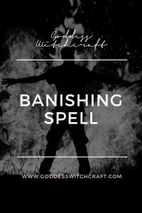 Banishing Spell Pinterest Image
