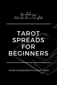 Tarot Spreads for Beginners Pinterest Graphic