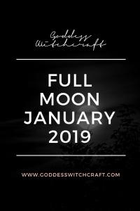 Full Moon January 2019 Pinterest Graphic