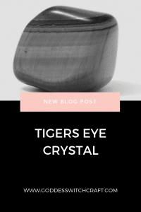 Tigers Eye Crystal Pinterest Graphic